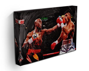 Floyd Mayweather Knockout Canvas Print or Poster - Canvas Art Rocks - 3