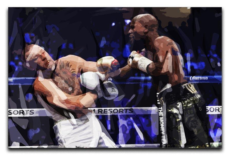 Floyd Mayweather vs Conor McGregor Canvas Print or Poster  - Canvas Art Rocks - 1