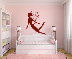 Flying Fairy Wall Sticker - Canvas Art Rocks - 1