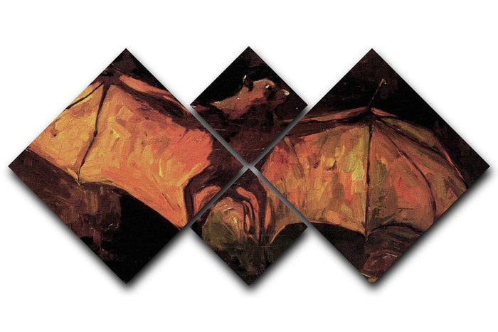 Flying Fox by Van Gogh 4 Square Multi Panel Canvas