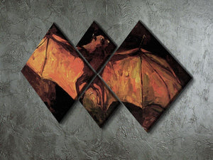 Flying Fox by Van Gogh 4 Square Multi Panel Canvas - Canvas Art Rocks - 2