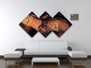 Flying Fox by Van Gogh 4 Square Multi Panel Canvas - Canvas Art Rocks - 3