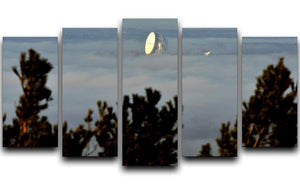 Fog at Jodrell Bank 5 Split Panel Canvas - Canvas Art Rocks - 1