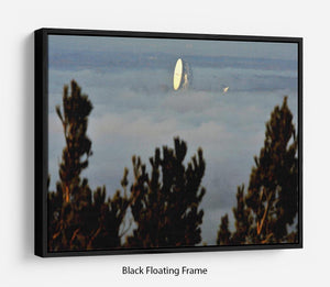 Fog at Jodrell Bank Floating Frame Canvas - Canvas Art Rocks - 1