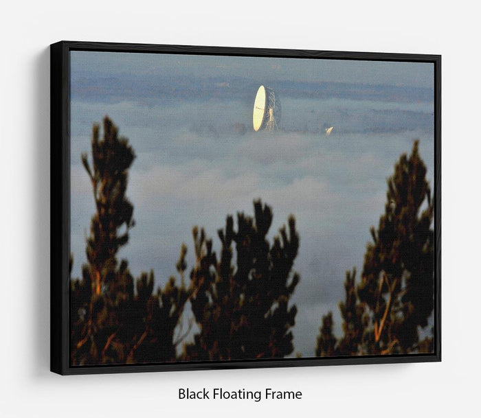 Fog at Jodrell Bank Floating Frame Canvas