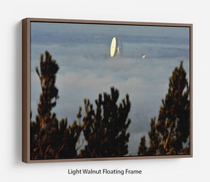 Fog at Jodrell Bank Floating Frame Canvas - Canvas Art Rocks 7