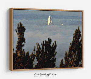 Fog at Jodrell Bank Floating Frame Canvas - Canvas Art Rocks - 9