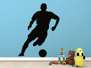 Football Player Version 1 Wall Sticker - Canvas Art Rocks