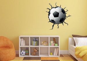 Football Smash Wall Sticker - Canvas Art Rocks