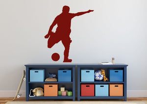 Football Striker Wall Sticker - Canvas Art Rocks