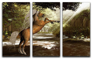 Forest Unicorn 3 Split Panel Canvas Print - Canvas Art Rocks - 1