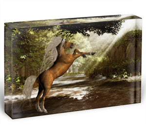 Forest Unicorn Acrylic Block - Canvas Art Rocks - 1