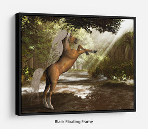 Forest Unicorn Floating Frame Canvas