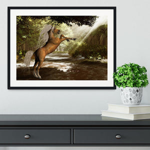 Forest Unicorn Framed Print - Canvas Art Rocks - 1