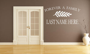 Forever A Family Wall Sticker - Canvas Art Rocks - 1