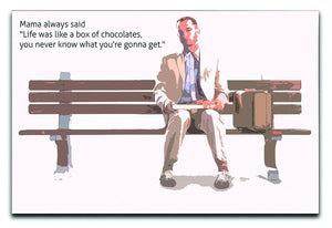 Forrest Gump Mama Said Canvas Print or Poster  - Canvas Art Rocks - 1