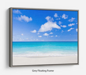 Foul Bay Barbados Floating Frame Canvas - Canvas Art Rocks - 3