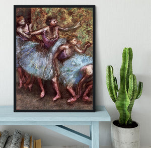 Four dancers behind the scenes 1 by Degas Framed Print - Canvas Art Rocks - 2