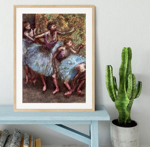 Four dancers behind the scenes 1 by Degas Framed Print - Canvas Art Rocks - 3