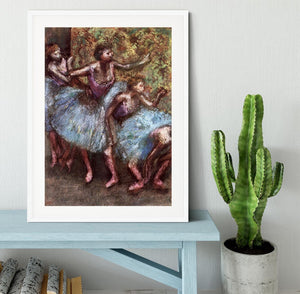 Four dancers behind the scenes 1 by Degas Framed Print - Canvas Art Rocks - 5