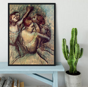 Four dancers in half figure by Degas Framed Print - Canvas Art Rocks - 2