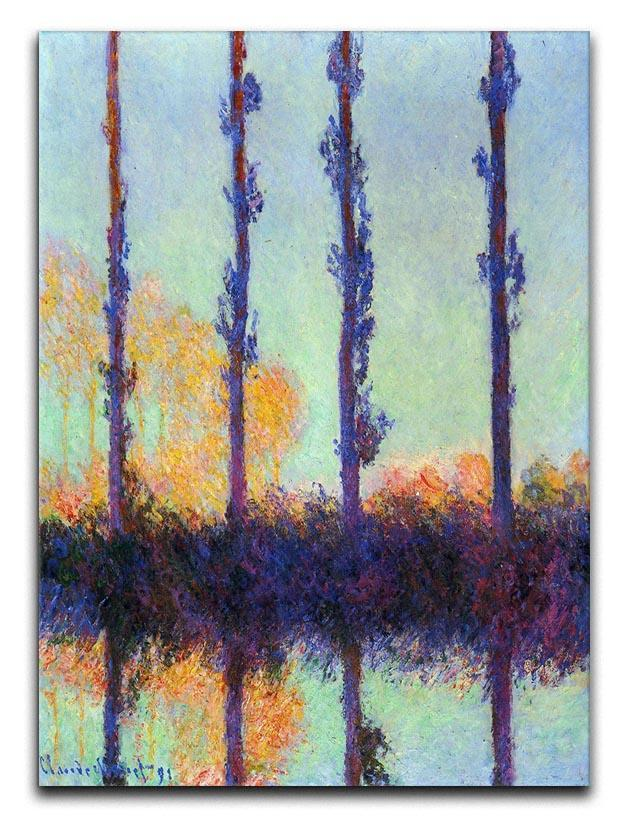 Four poplars by Monet Canvas Print or Poster