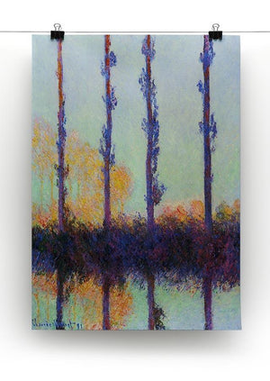 Four poplars by Monet Canvas Print & Poster - Canvas Art Rocks - 2