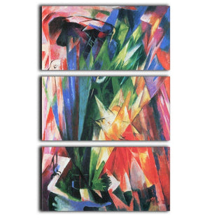 Fowl by Franz Marc 3 Split Panel Canvas Print - Canvas Art Rocks - 1