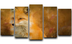 Fox Painting 5 Split Panel Canvas  - Canvas Art Rocks - 1