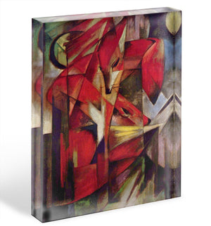 Foxes by Franz Marc Acrylic Block - Canvas Art Rocks - 1