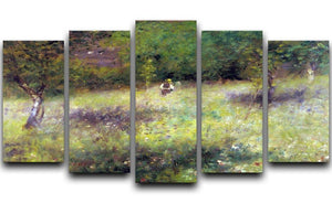 Frahling in Chatou by Renoir 5 Split Panel Canvas  - Canvas Art Rocks - 1