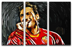 Francesco Totti 3 Split Panel Canvas Print - Canvas Art Rocks - 1