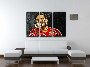 Francesco Totti 3 Split Panel Canvas Print - Canvas Art Rocks - 3