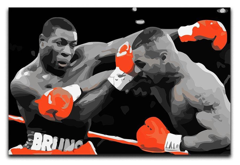 Frank Bruno Mike Tyson Canvas Print or Poster  - Canvas Art Rocks - 1
