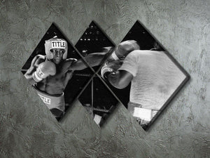 Frank Bruno sparring 4 Square Multi Panel Canvas - Canvas Art Rocks - 2