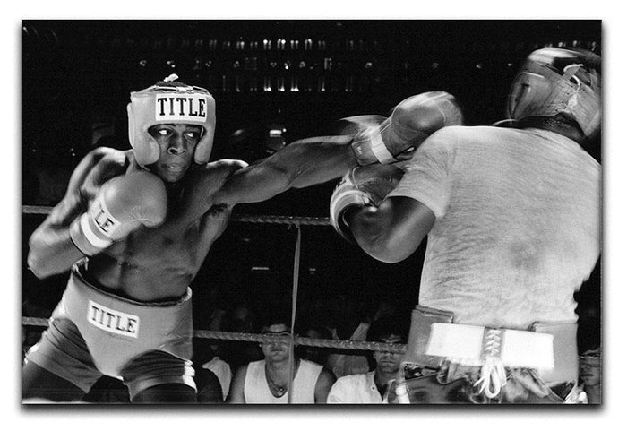 Frank Bruno sparring Canvas Print or Poster