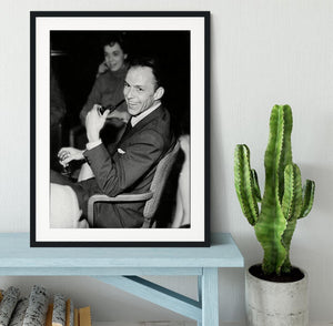 Frank Sinatra with pipe Framed Print - Canvas Art Rocks - 1