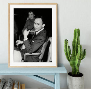 Frank Sinatra with pipe Framed Print - Canvas Art Rocks - 3