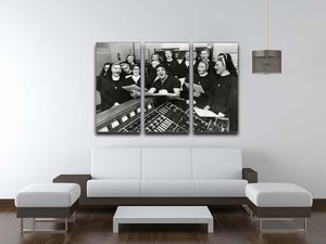 Frankie Vaughan and nuns 3 Split Panel Canvas Print - Canvas Art Rocks - 3