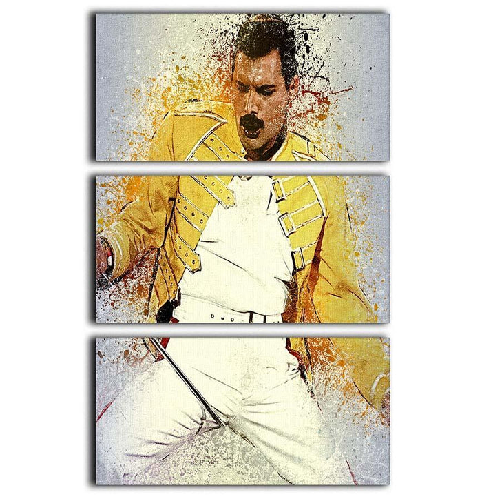 Freddie Mercury Splatter 3 Split Panel Canvas Print