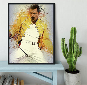 Freddie Mercury Splatter Framed Print - Canvas Art Rocks - 2