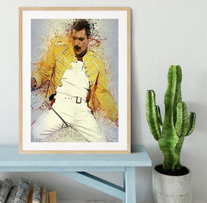 Freddie Mercury Splatter Framed Print - Canvas Art Rocks - 3