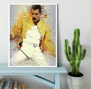 Freddie Mercury Splatter Framed Print - Canvas Art Rocks -6