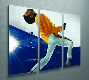 Freddie Mercury at Wembley Stadium 3 Split Panel Canvas Print
