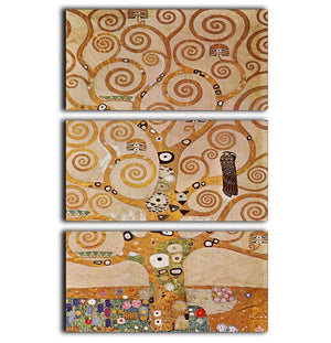 Frieze II by Klimt 3 Split Panel Canvas Print - Canvas Art Rocks - 1