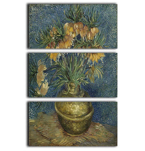 Fritillaries in a Copper Vase 3 Split Panel Canvas Print - Canvas Art Rocks - 1