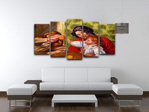Gabrielle Jean and a girl by Renoir 5 Split Panel Canvas - Canvas Art Rocks - 3