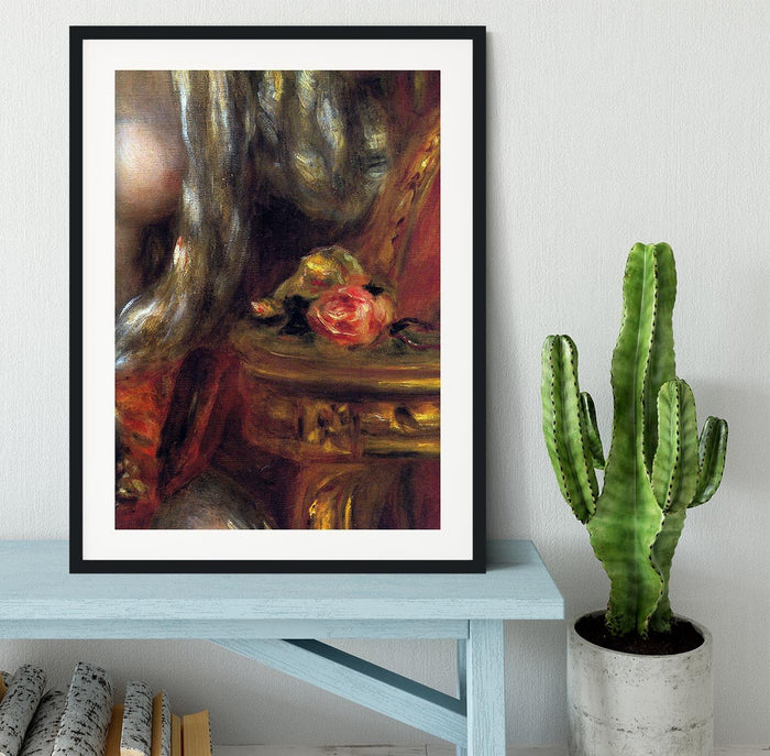 Gabrielle with jewels detail by Renoir Framed Print