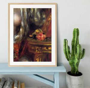 Gabrielle with jewels detail by Renoir Framed Print - Canvas Art Rocks - 3