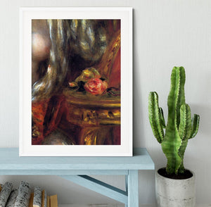Gabrielle with jewels detail by Renoir Framed Print - Canvas Art Rocks - 5
